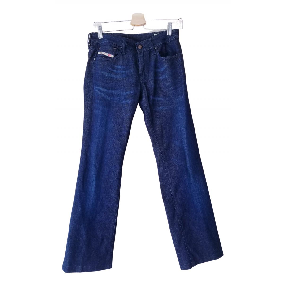 Diesel \N Navy Cotton - elasthane Jeans for Women 28 US