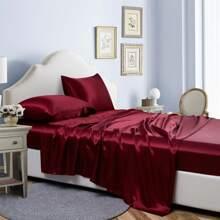 Set de cama de saten sin relleno