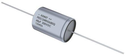 KEMET 47μF Electrolytic Capacitor 450V dc, Through Hole - PEG124YL2470QL1