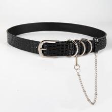 Cinturon con cadena con anillo