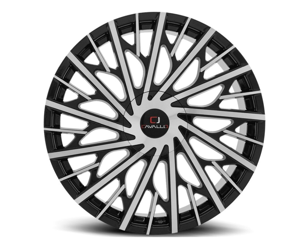 Cavallo CLV-30 Wheel 20x8.5 5x114.3|5x120 35mm Gloss Black Machined
