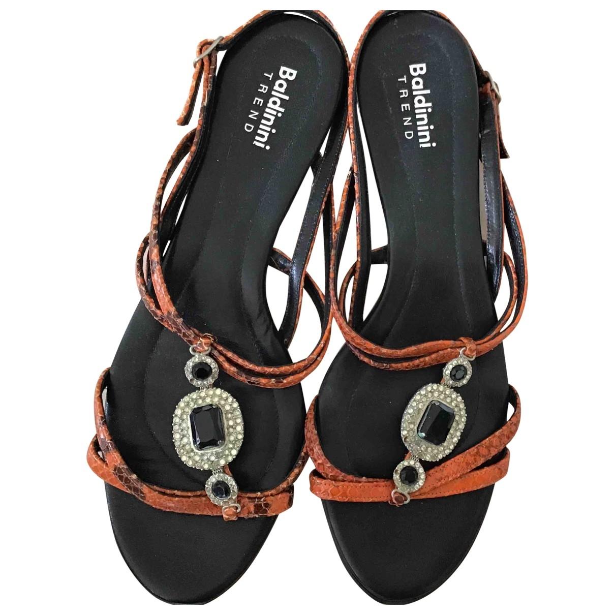 Baldinini - Sandales   pour femme en cuir - orange