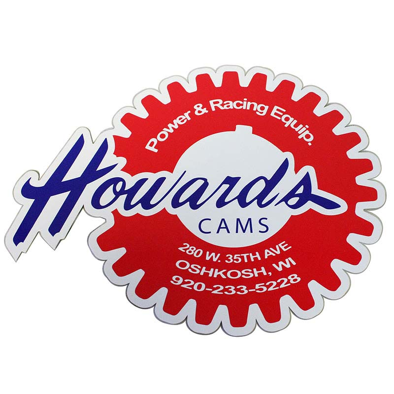 Decal; 12.500 9.875 Vinyl Howards Cams DECAL-RETRO-LG DECAL-RETRO-LG