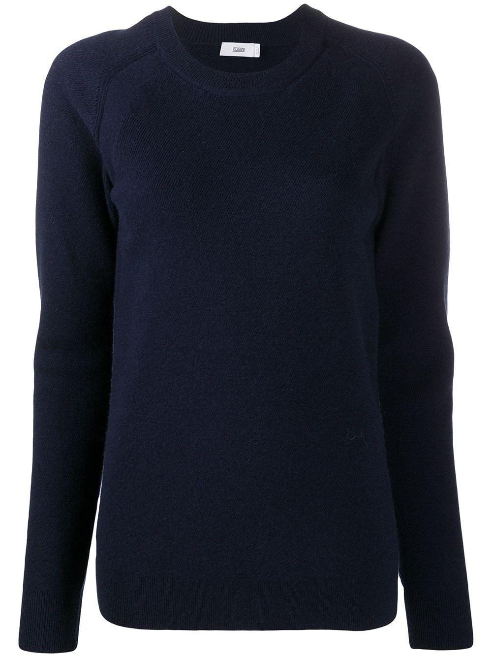 Wool-cashmere Blend Fine Knit Crew-neck Sweater