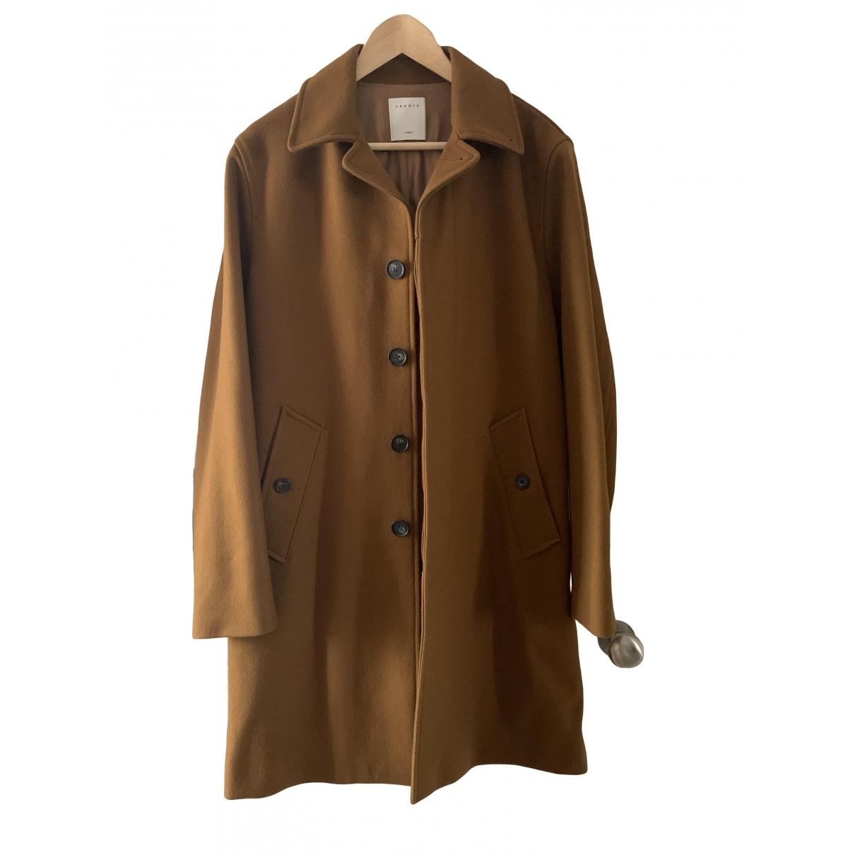 Sandro \N Camel Wool coat  for Men L International