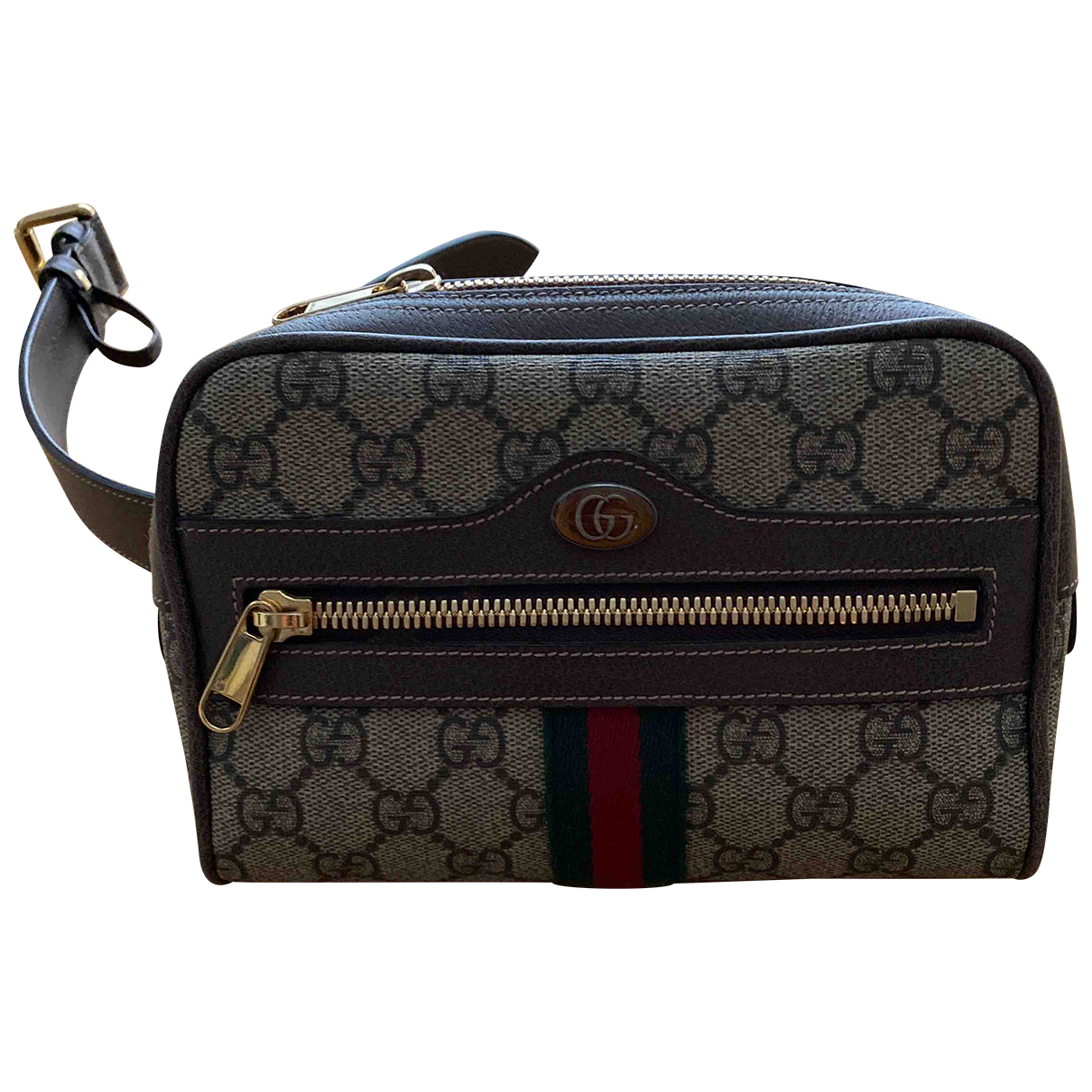 Gucci Ophidia Brown Cloth Clutch bag for Women \N