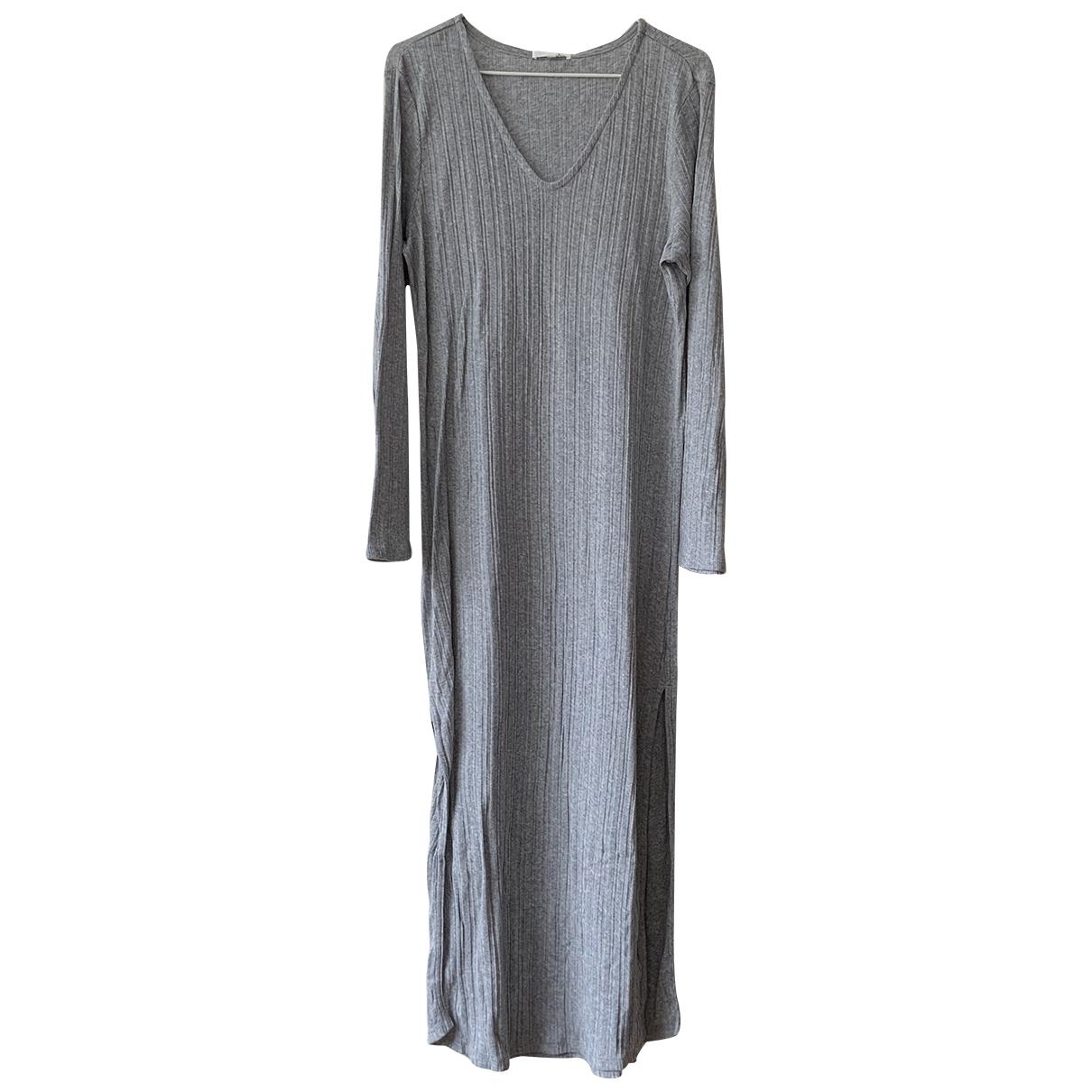 Skin \N Kleid in  Grau Baumwolle