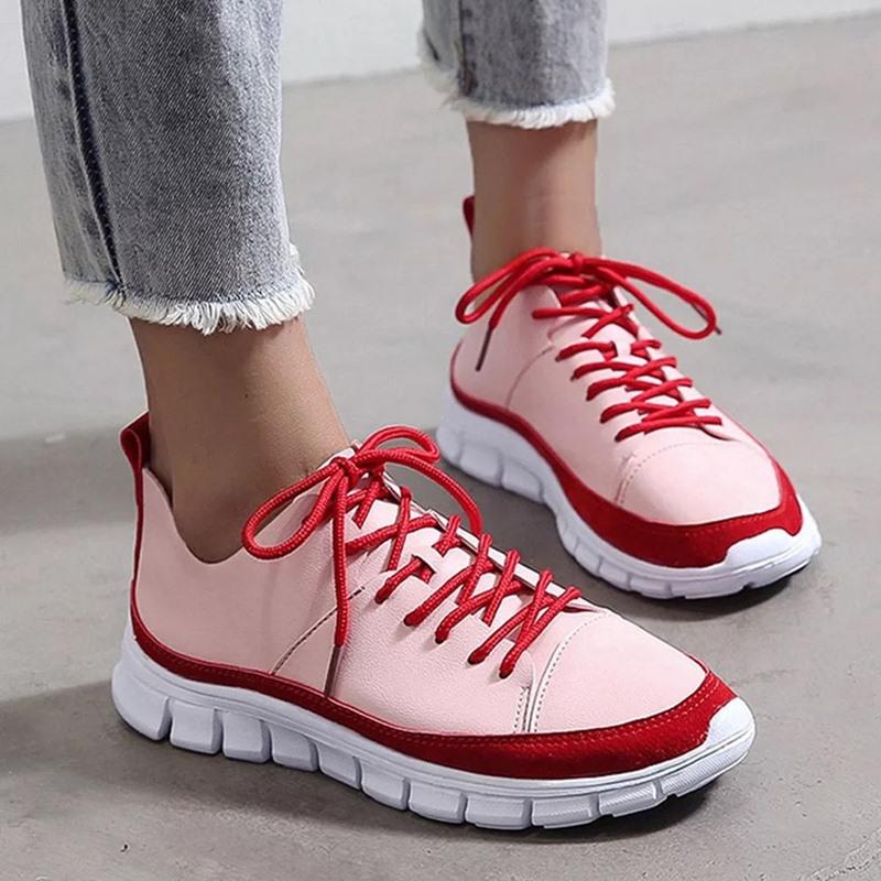 Ericdress Round Toe Thread Low-Cut Upper Color Block Sneakers