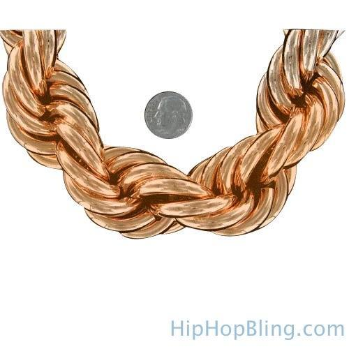 Rose Gold Dookie Rope Chain 30MM