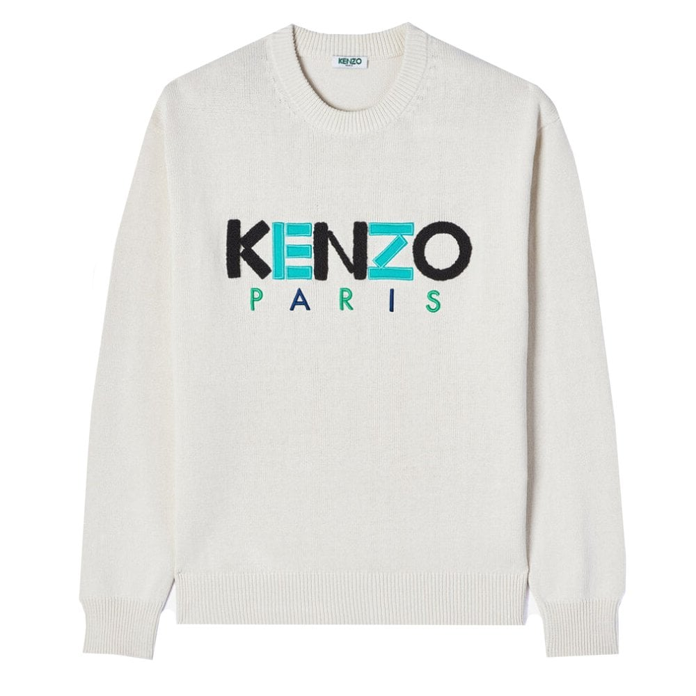 Kenzo Paris Wool Jumper Colour: CREAM, Size: EXTRA LARGE