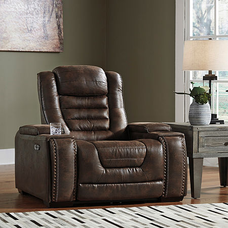 Signature Design by Ashley Game Zone Power Recliner, One Size , Brown
