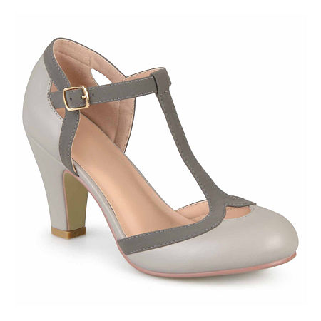 Journee Collection Womens Olina Pumps Wide Width, 7 1/2 Wide, Gray