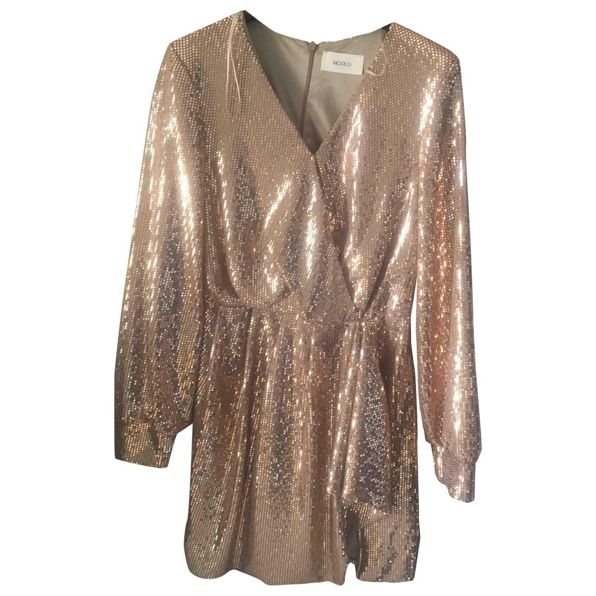 Vicolo \N Gold Glitter dress for Women M International