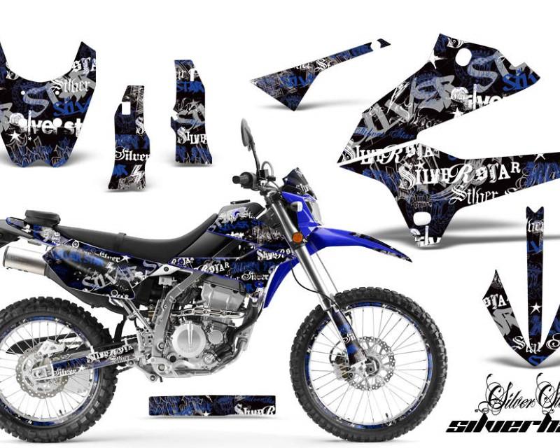 AMR Racing Graphics MX-NP-KLX250-08-18-SSSH U K Kit Decal Sticker Wrap + # Plates For Kawasaki KLX250 2008-2018áSSSH BLUE BLACK