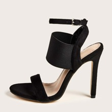 Minimalist Ankle Strap Stiletto Heeled Sandals