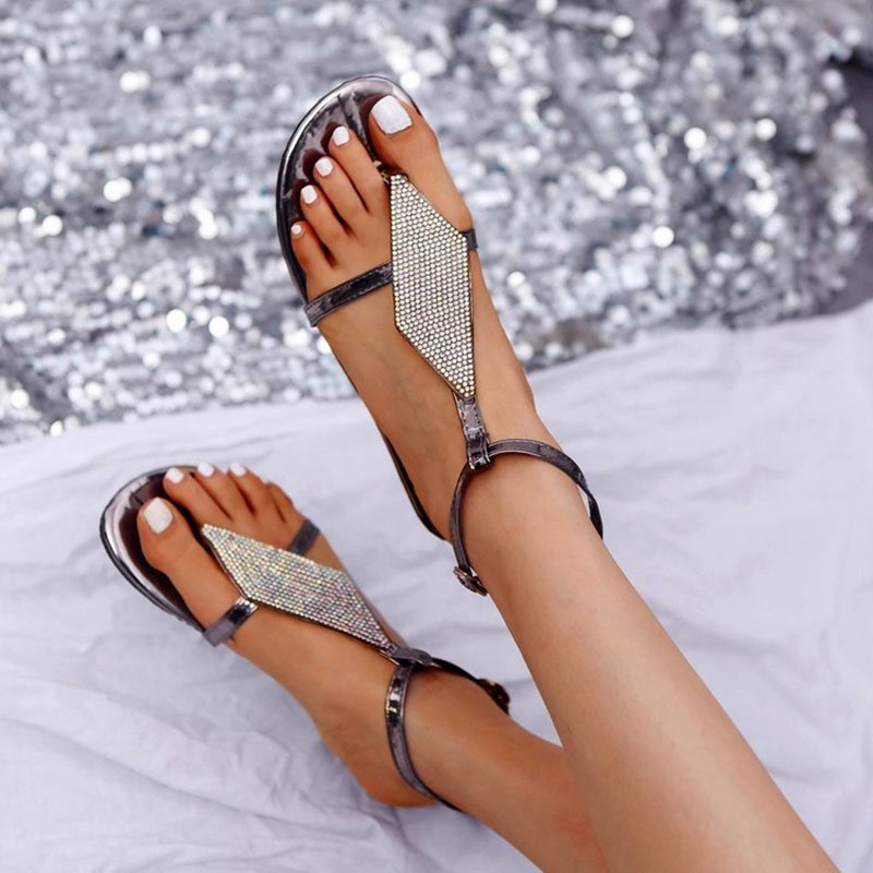 Ericdress Thong Buckle Flat With Casual Sandals