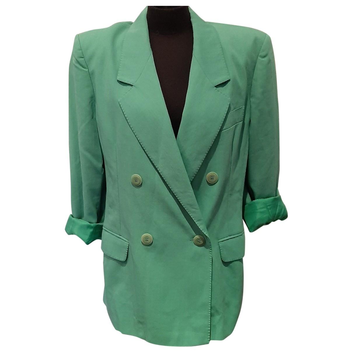 Max Mara \N Green Wool jacket for Women 40 IT