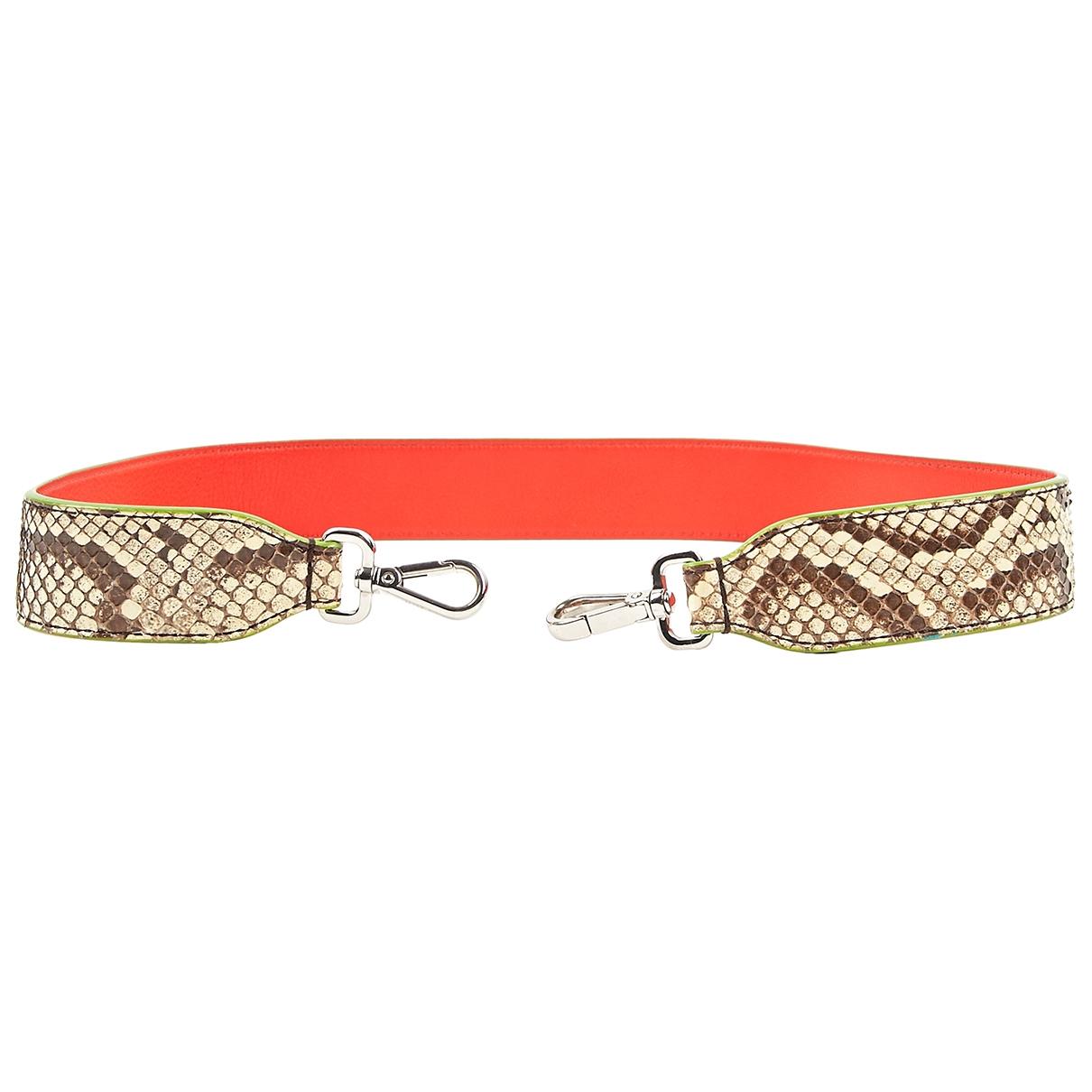 Fendi \N Beige Python belt for Women 90 cm