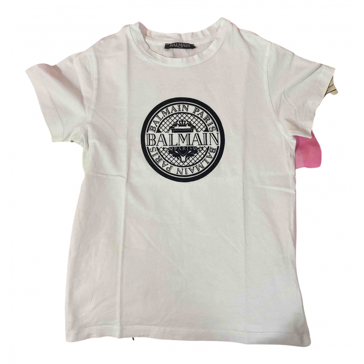 Balmain N White Cotton  top for Kids 8 years - up to 128cm FR