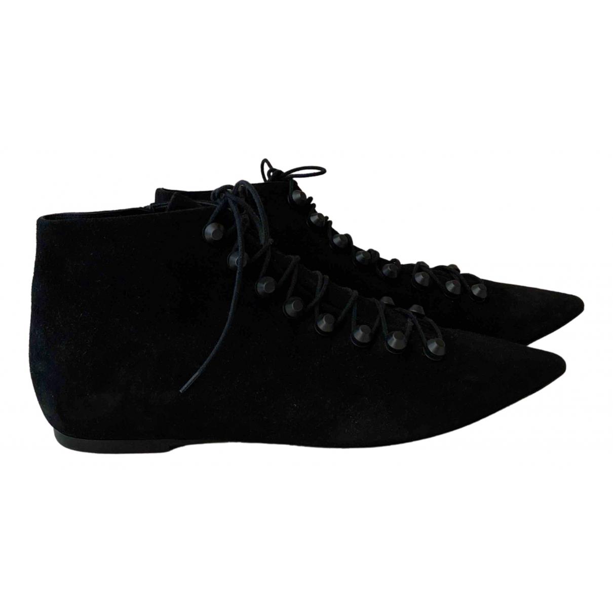 Balenciaga N Black Suede Lace ups for Women 40 EU