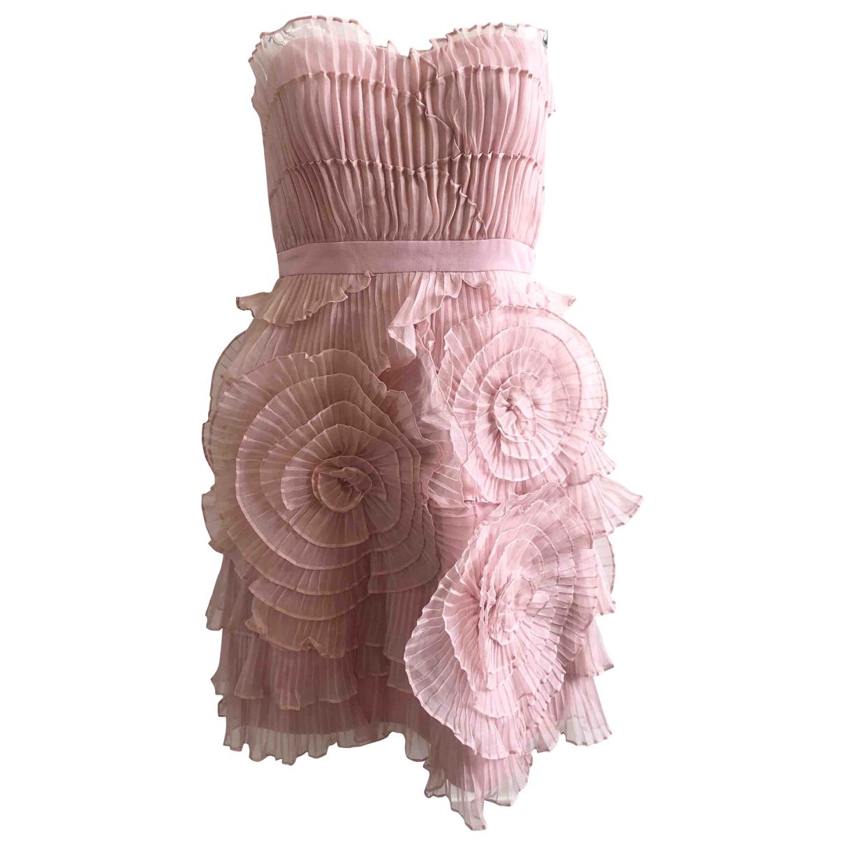 Bcbg Max Azria \N Kleid in  Rosa Seide