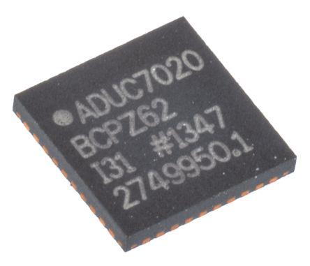 Analog Devices ADUC7020BCPZ62, 16/32bit ARM7TDMI Microcontroller, ADuC7, 44MHz, 62 kB Flash, 40-Pin LFCSP WQ