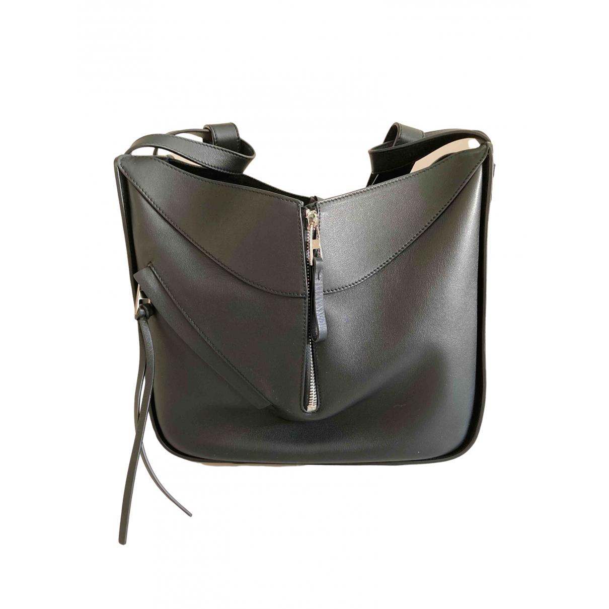 Loewe Hammock Anthracite Leather handbag for Women \N