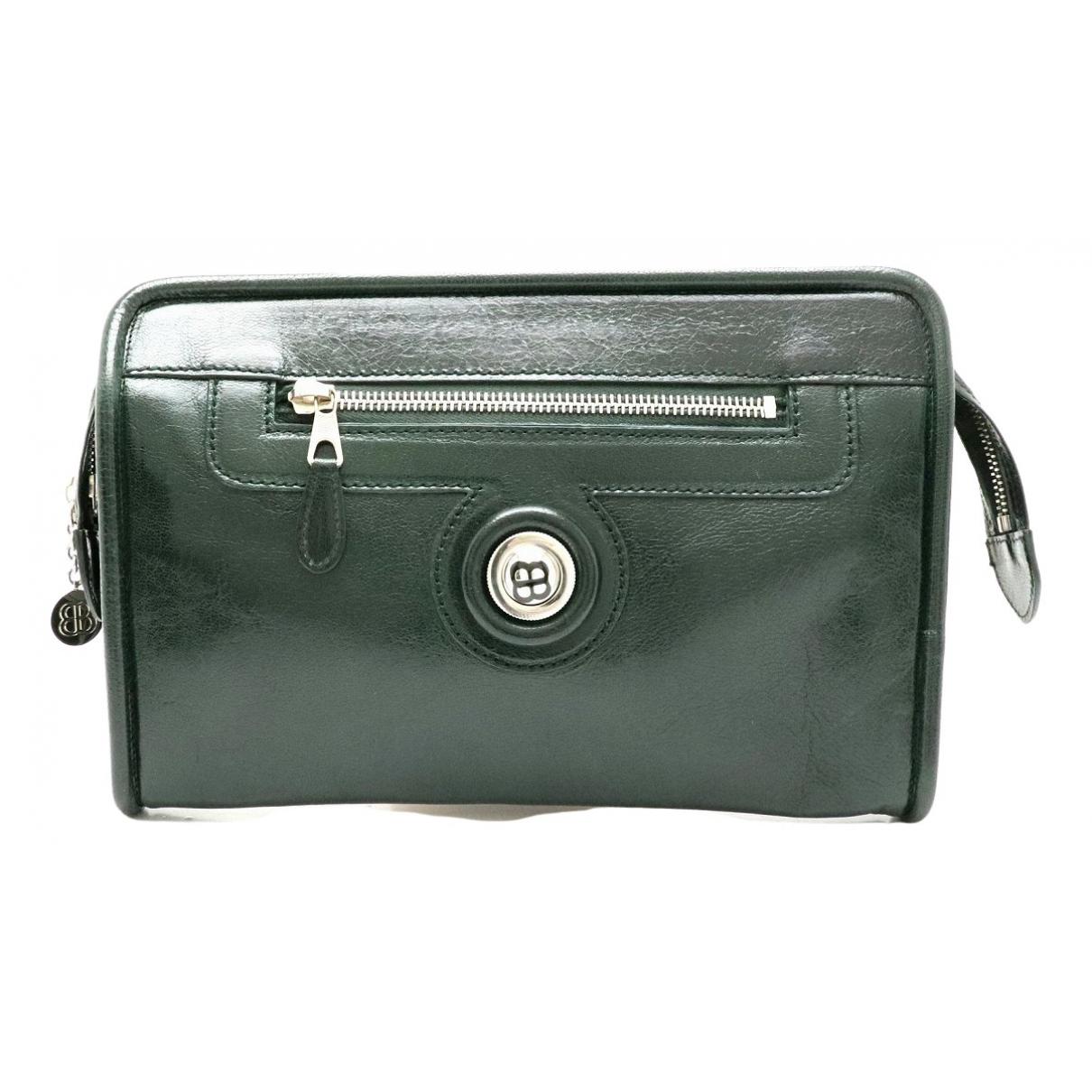 Balenciaga \N Green Leather Clutch bag for Women \N