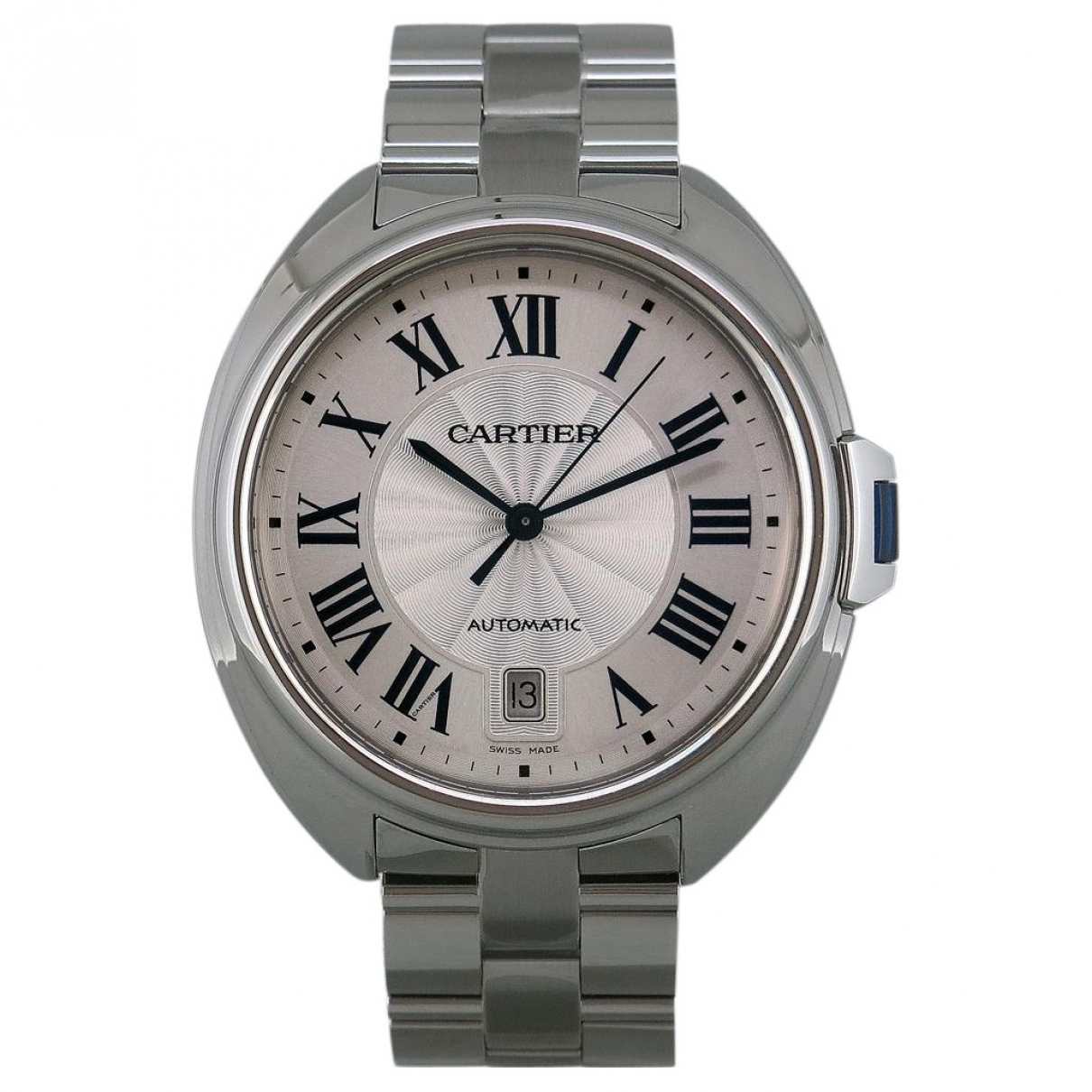 Cartier Cle Uhr in  Silber Stahl