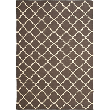 Safavieh Wardell Hand Woven Flat Weave Area Rug, One Size , Brown