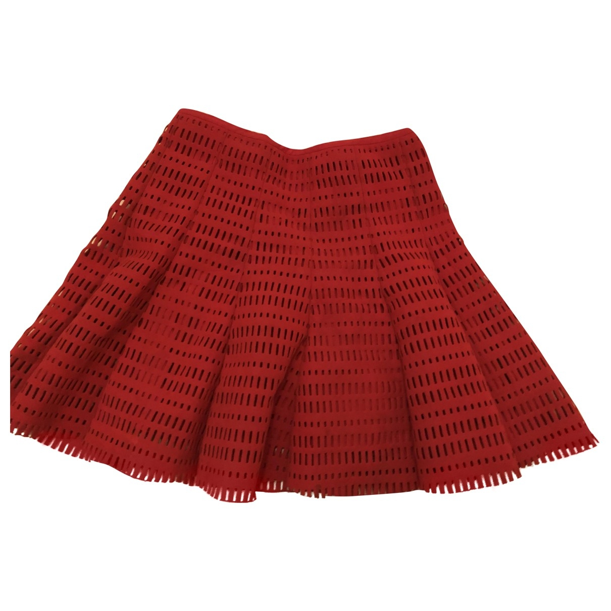 Maje \N Red Cotton skirt for Women 2 0-5
