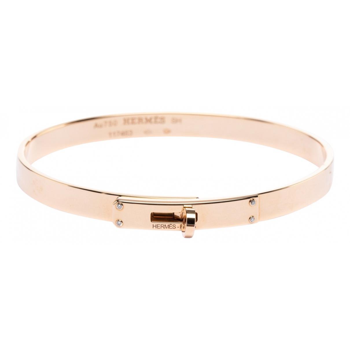 Hermès Kelly Gold Pink gold bracelet for Women \N