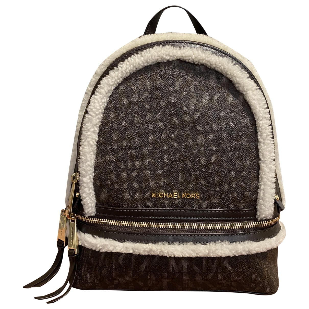 Michael Kors Rhea Brown Fur backpack for Women \N