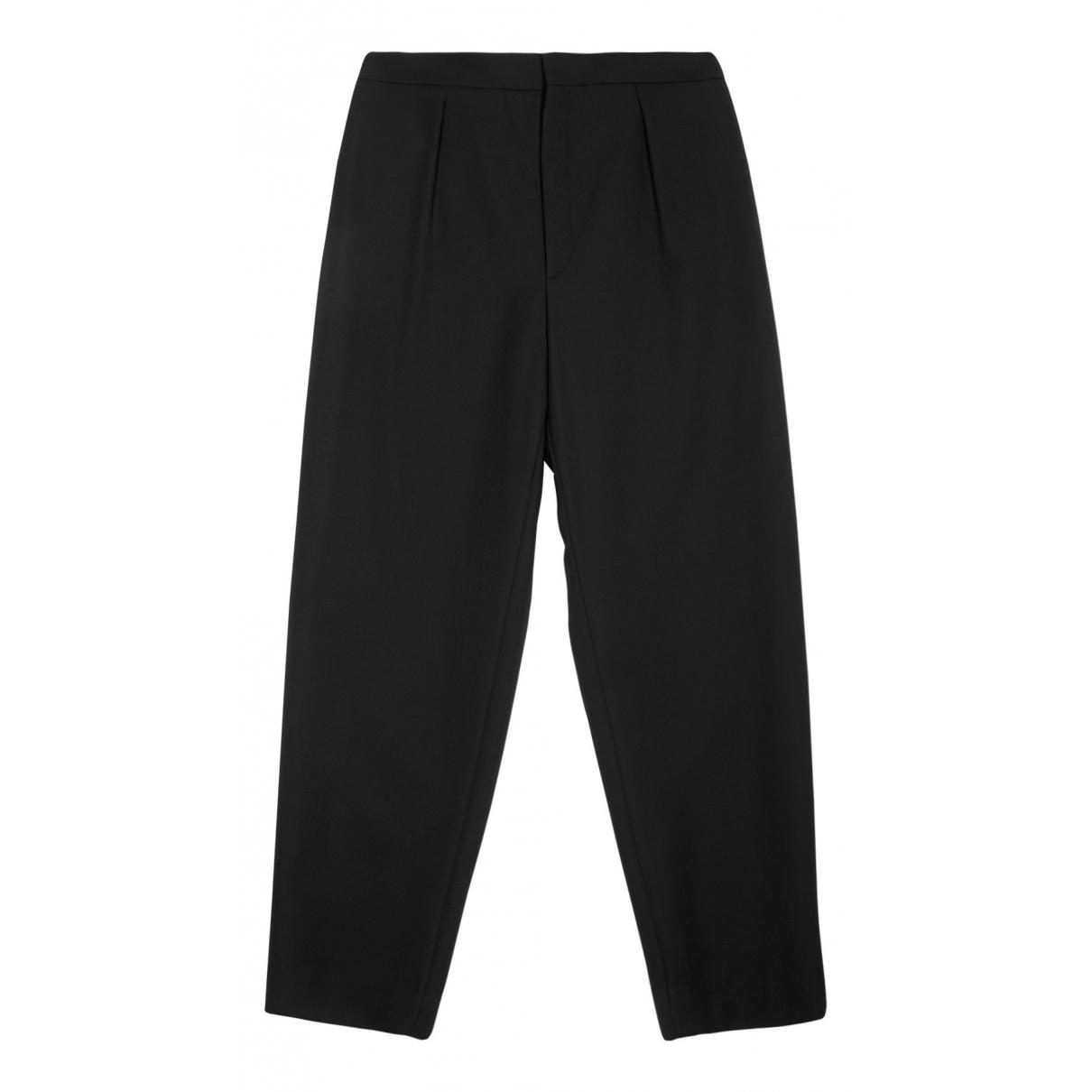 Saint Laurent N Black Wool Trousers for Women 14 UK