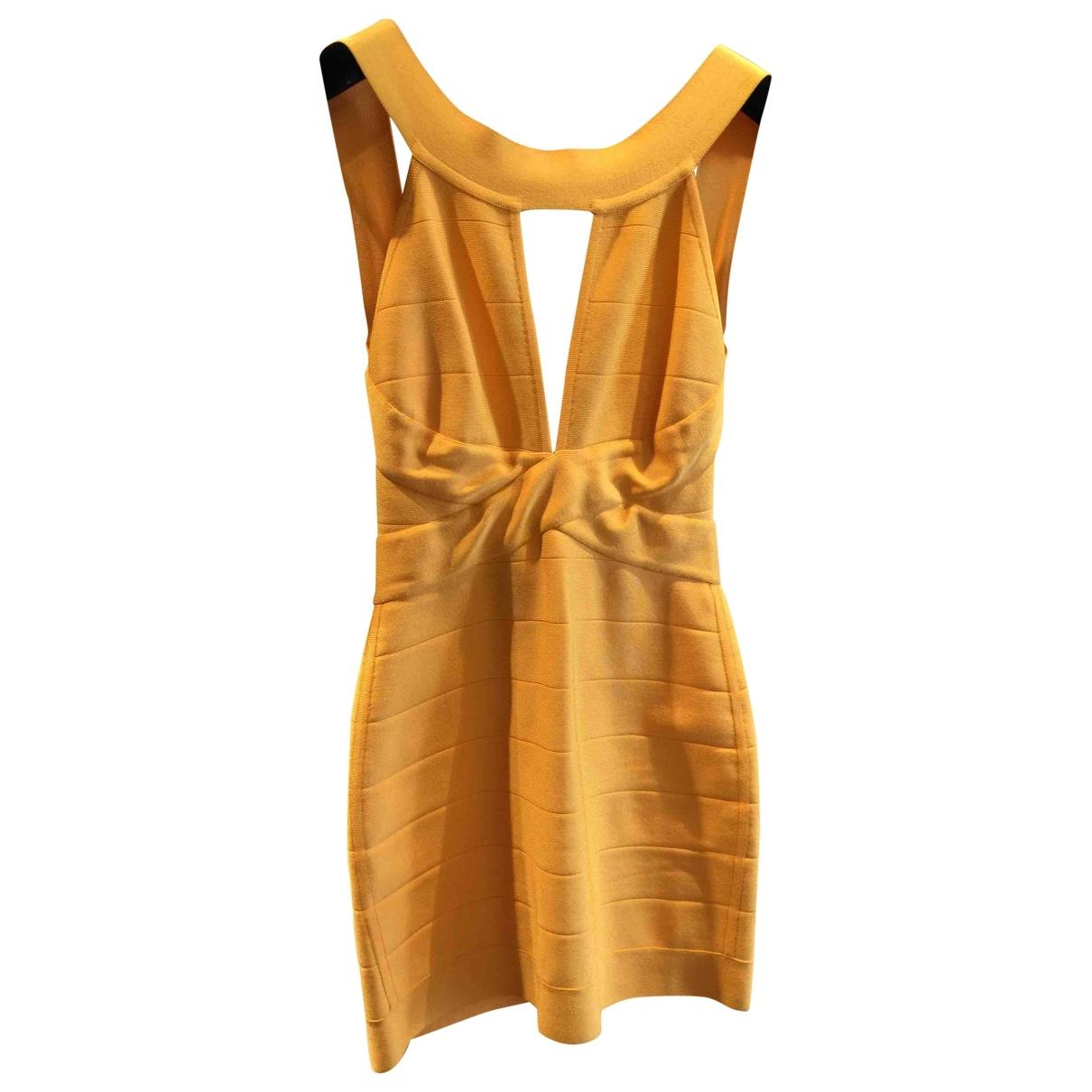 Balmain \N Kleid in  Orange Viskose