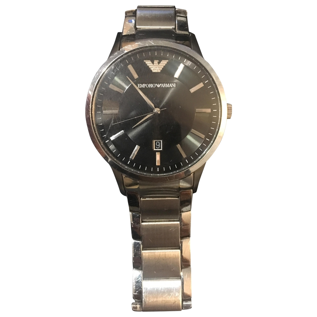 Emporio Armani \N Silver Steel watch for Men \N