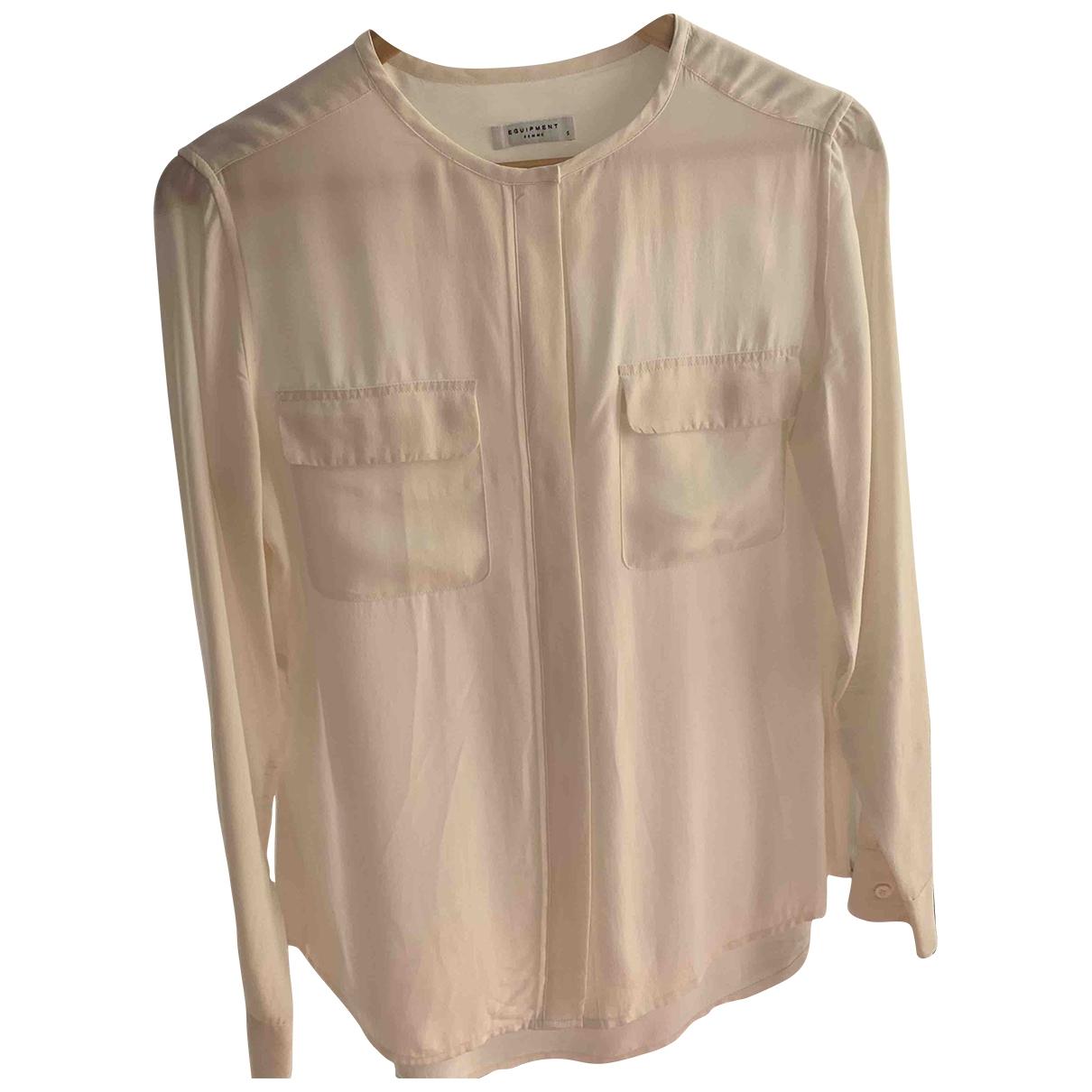 Equipment \N Ecru Silk  top for Women 38 FR