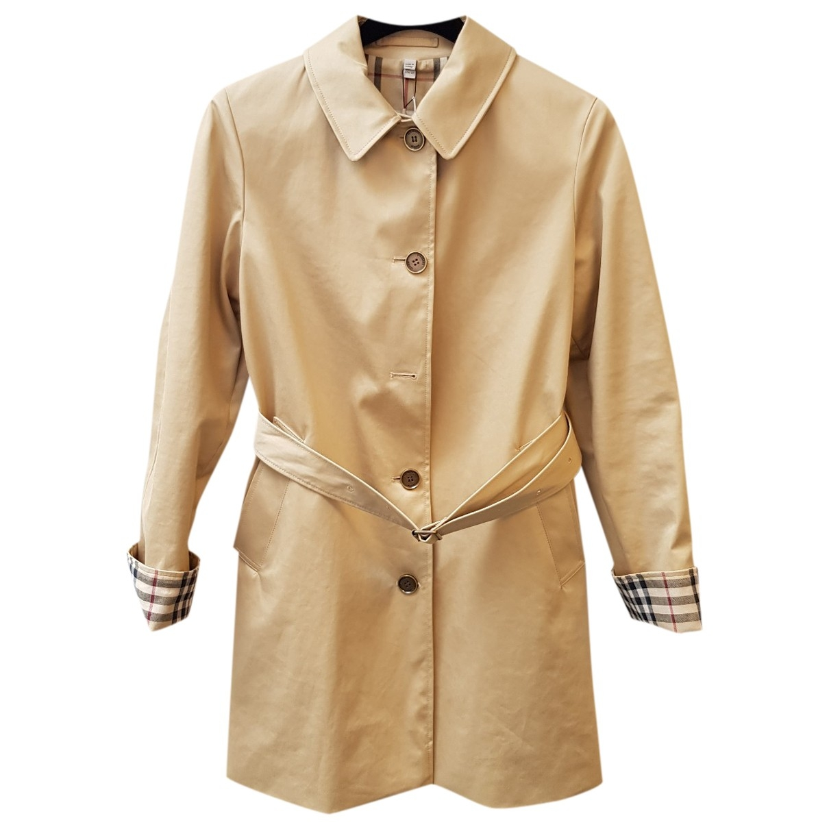 Burberry \N Beige Cotton Trench coat for Women 42 IT