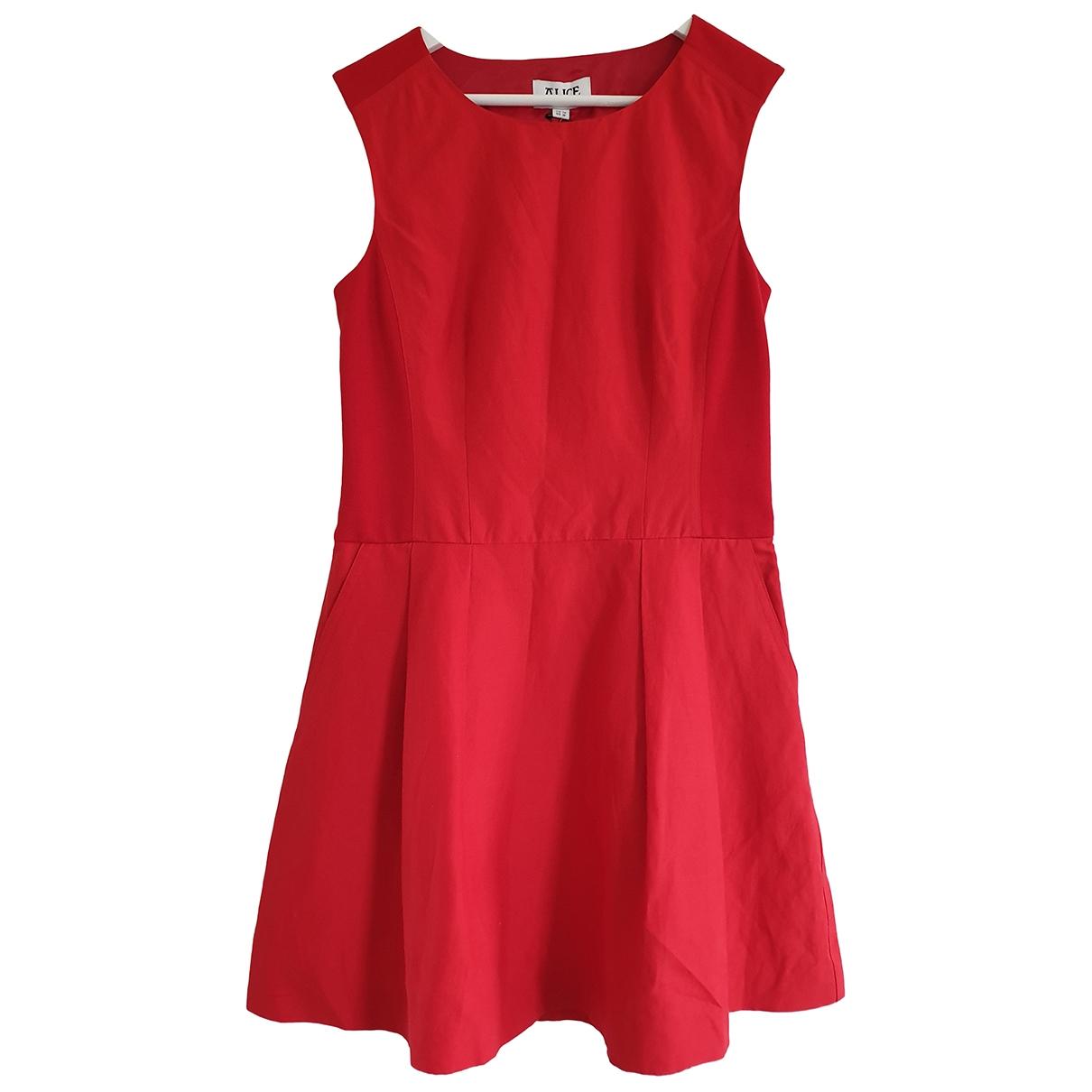 Alice By Temperley \N Kleid in  Rot Leinen