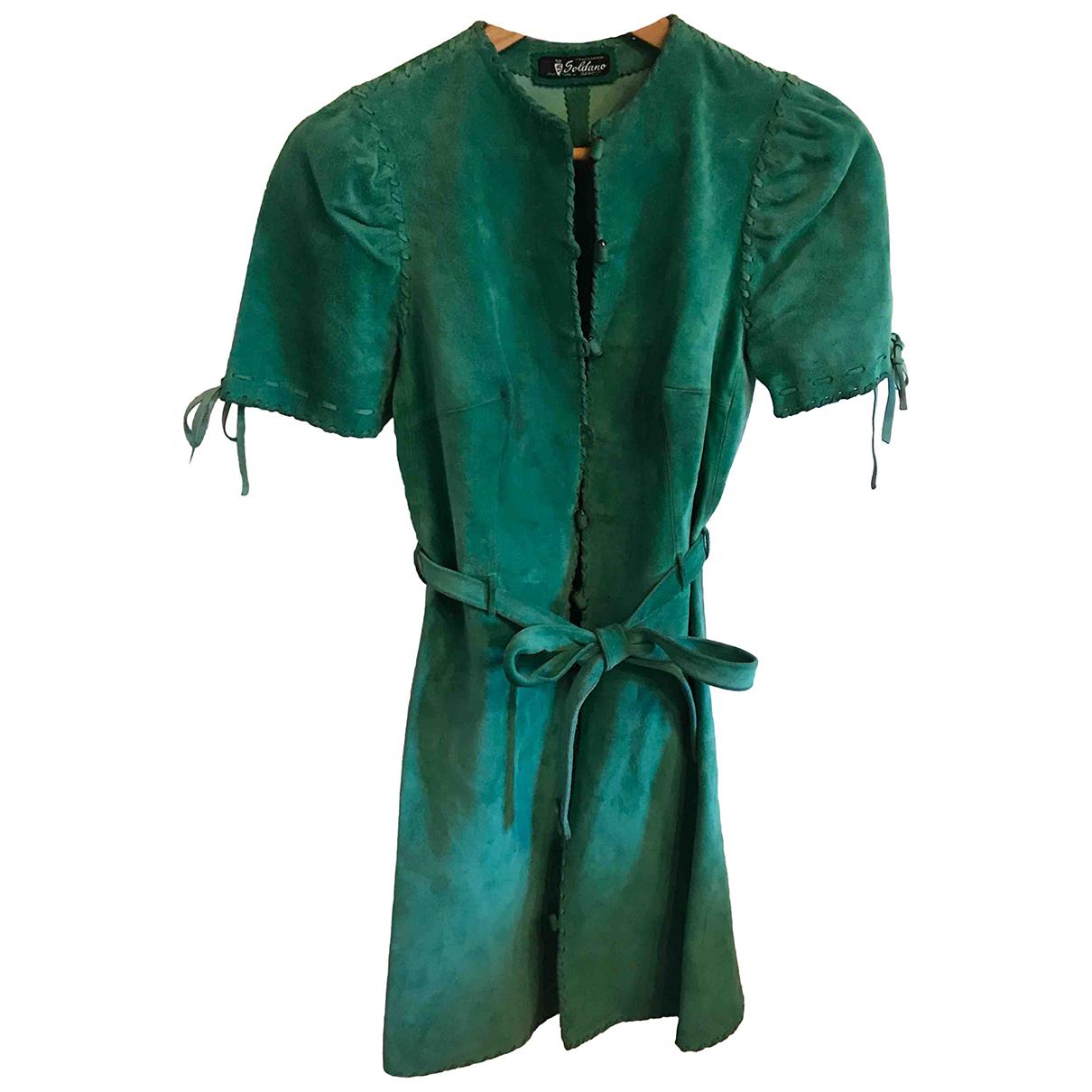Autre Marque \N Kleid in  Gruen Veloursleder