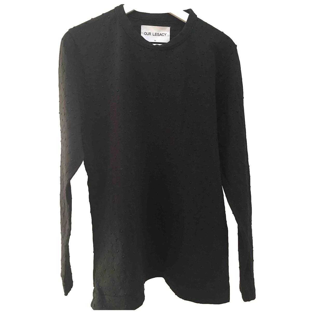Our Legacy \N Pullover.Westen.Sweatshirts  in  Schwarz Baumwolle
