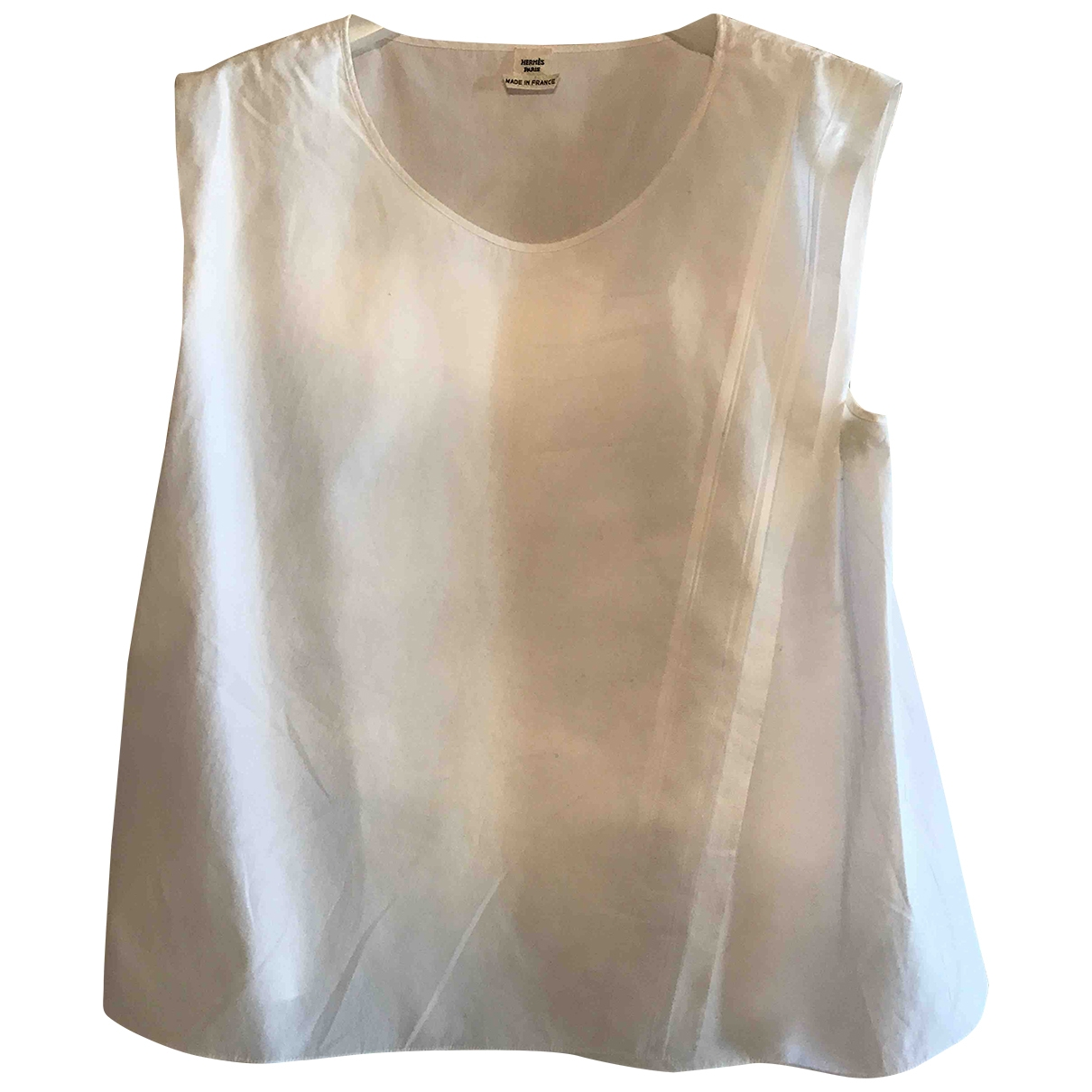 Hermès \N White Cotton  top for Women 40 IT