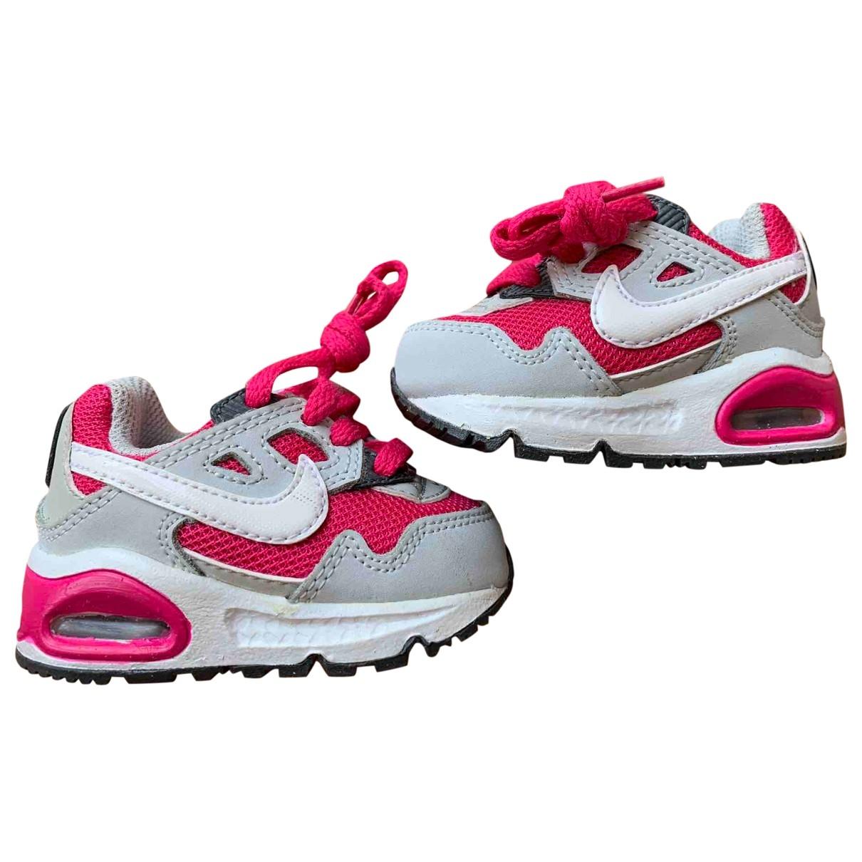 Nike - Baskets Air Max  pour enfant en cuir - rose
