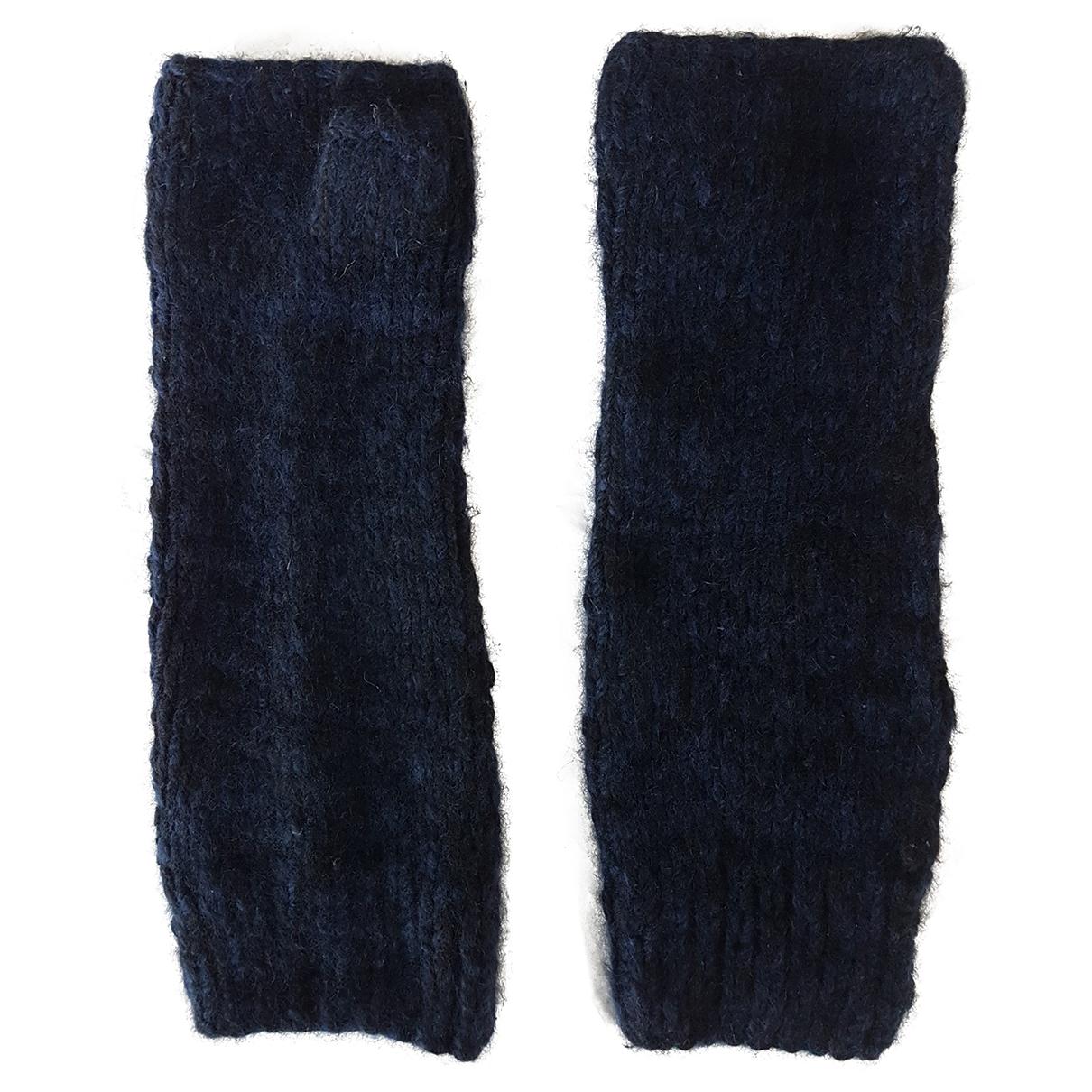 The Elder Statesman - Gants   pour femme en cachemire - bleu