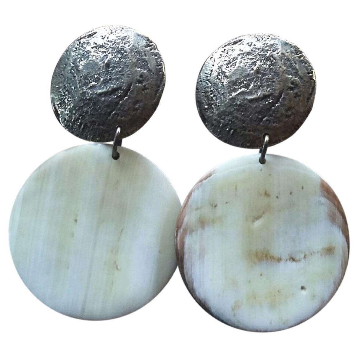 Césarée \N Beige Horn Earrings for Women \N