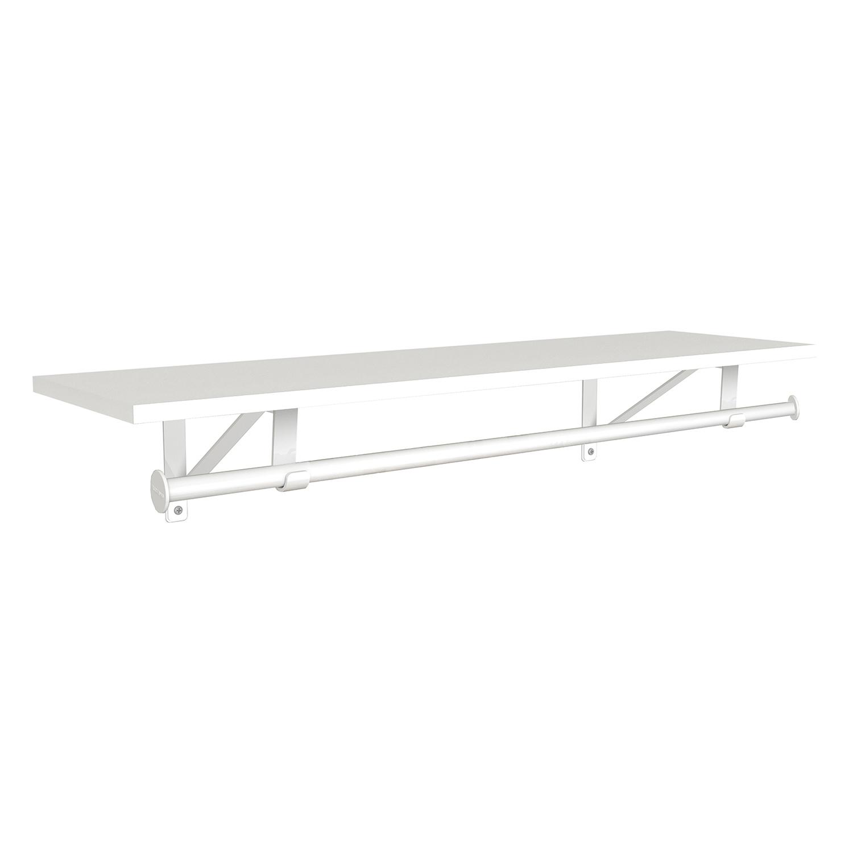 "Laminate Shelf & Rod Kit 48"" W x 12"" D, White"