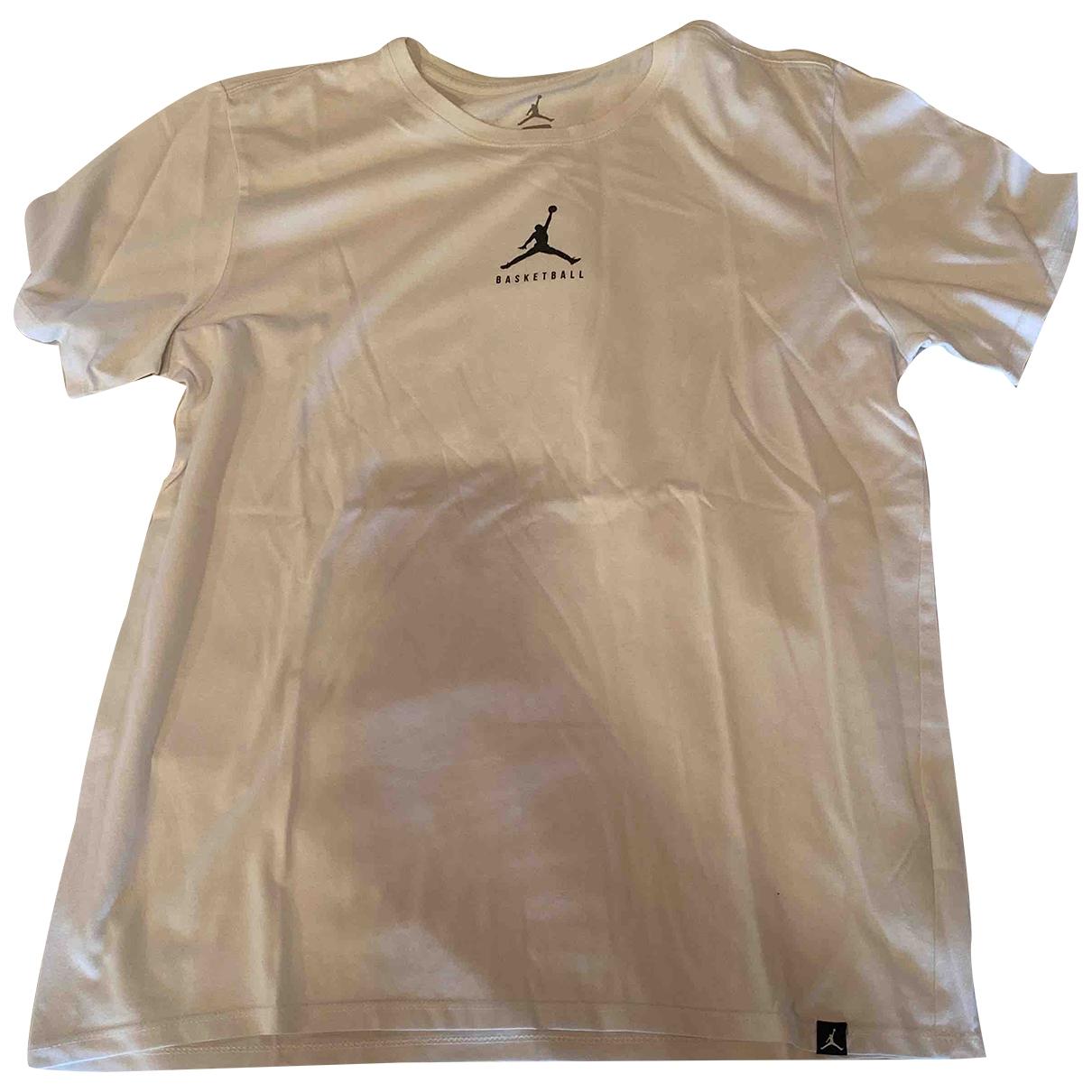 Jordan - Tee shirts   pour homme en coton - blanc