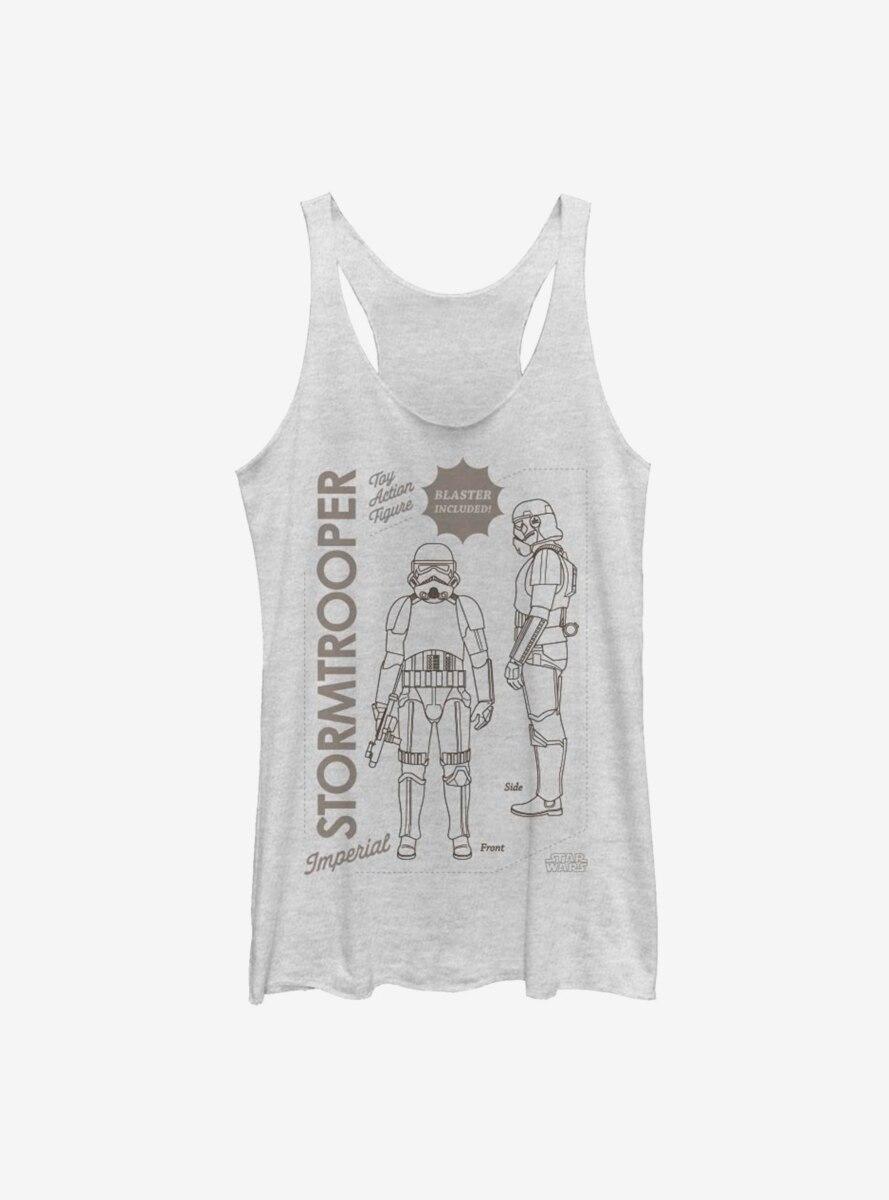 Star Wars The Mandalorian Trooper Action Figure Womens Tank Top