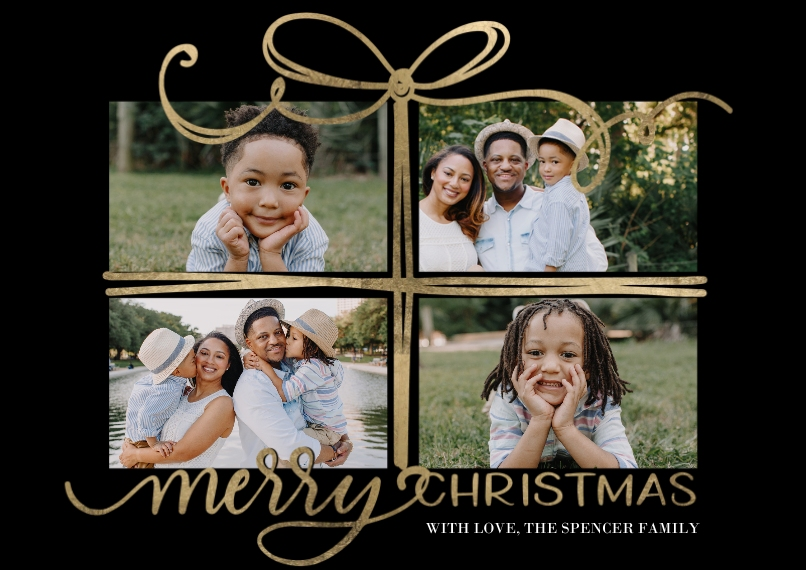 Christmas Photo Cards 5x7 Cards, Premium Cardstock 120lb with Elegant Corners, Card & Stationery -Christmas Gift by Tumbalina