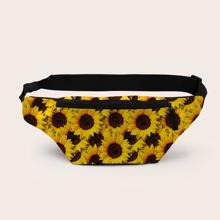 3D Sunflower Print Fanny Pack